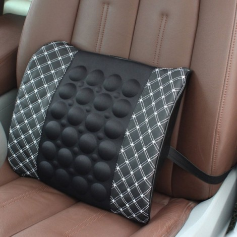 Electric Massage Lumbar Support Car Pillow Massage Cushion White & Black