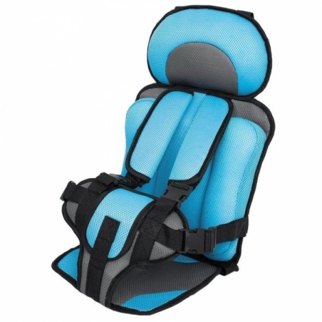 Portable Thickened Baby Child Safety Car Seat Light Blue S