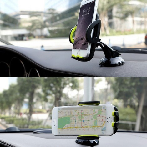 ROCK Deluxe 360 Degree Rotation Windscreen Mount Holder Stand for Cellphone Under 6-inch Green