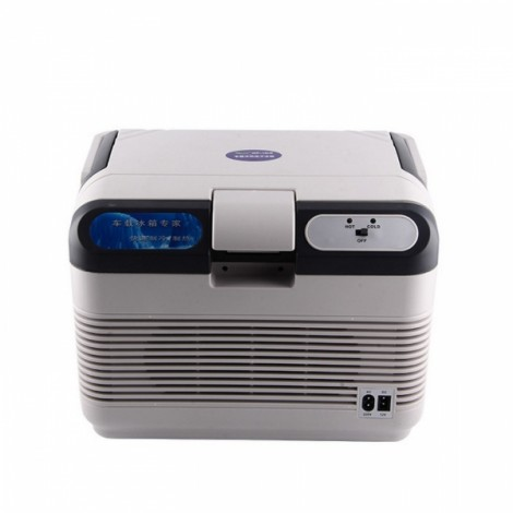 12L Portable Mini Car Auto Home Camping Fridge Electric Cool Box Cooler and Warmer Light Gray