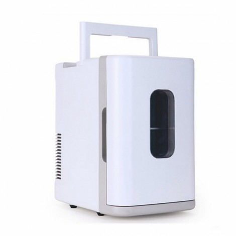 10L Mini Car Auto Home Camping Fridge Electric Cool Box Cooler and Warmer White