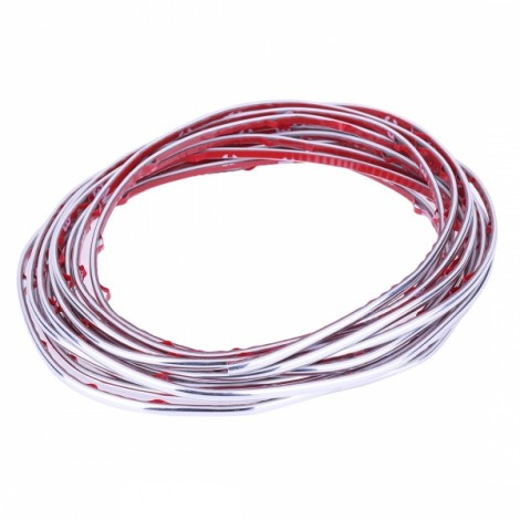 5m Flexible Trim Fashion Car Interior & Exterior Moulding Strip Decorative Line Silver
