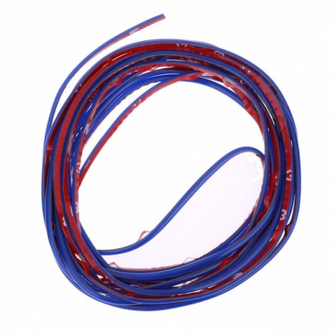 5m Flexible Trim Fashion Car Interior & Exterior Moulding Strip Decorative Line Blue