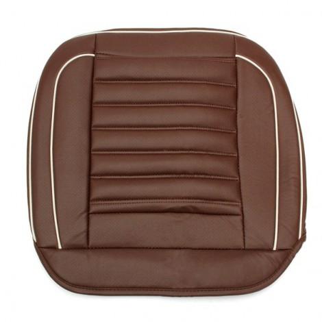 50x50cm PU Leather Car Cushion Seat Chair Cover Auto Interior Pad Mat Coffee