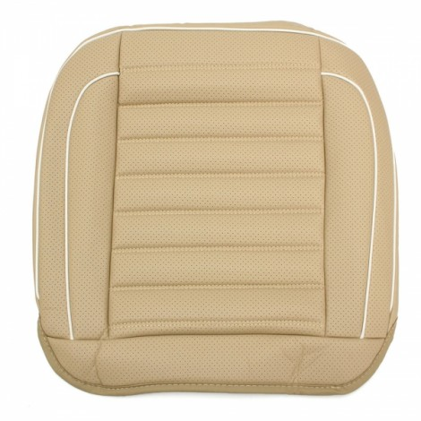 50x50cm PU Leather Car Cushion Seat Chair Cover Auto Interior Pad Mat Beige