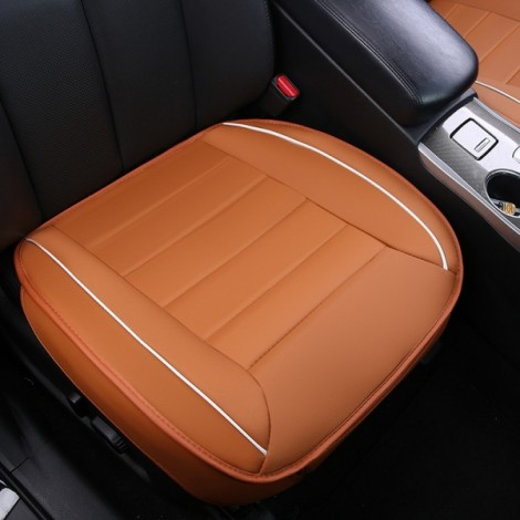50x50cm PU Leather Car Cushion Seat Chair Cover Auto Interior Pad Mat Orange