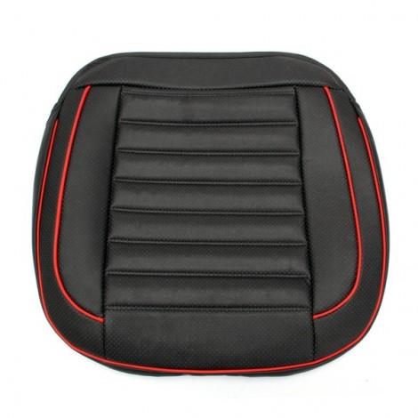 50x50cm PU Leather Car Cushion Seat Chair Cover Auto Interior Pad Mat Black