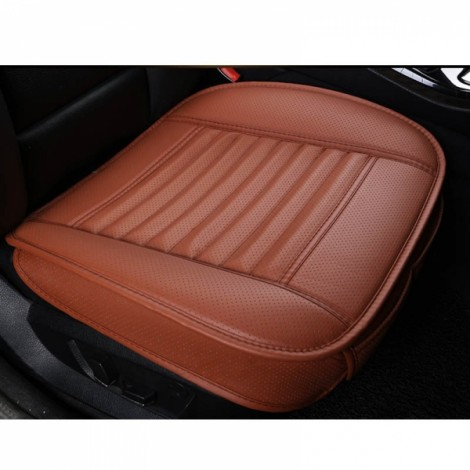 PU Leather Cushion Car Seat Cover Side Full Cover Seats Protect Mat Orange