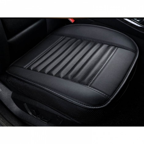 PU Leather Cushion Car Seat Cover Side Full Cover Seats Protect Mat Black