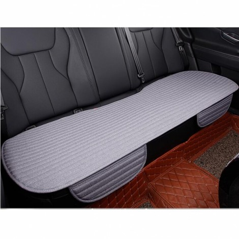Universal Linen Ventilated Breathable Nonslip Car Backseat Rear Seat Cushion Cover Pad Mat - Gray