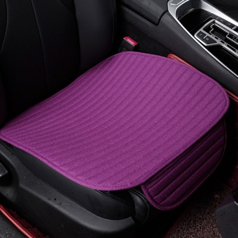 Universal Linen Ventilated Breathable Nonslip Car Front Seat Cushion Cover Pad Mat - Purple