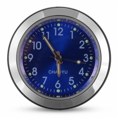 Car A/C Vent Clip Thermometer Clock Gauge Trim Perfume Refill Storage Fragrance with 140g Perfume-Blue Clock
