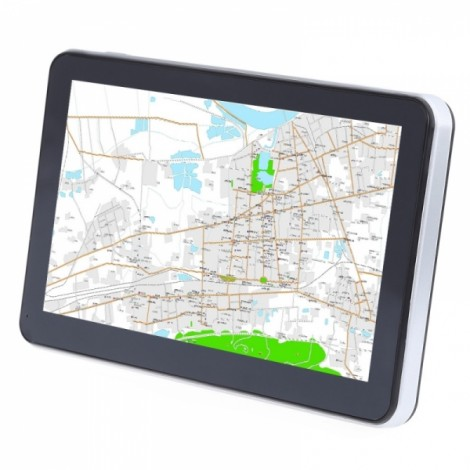 704 Win CE 6.0 7 inch Car GPS Navigation Navigator AV Oceania Map Black