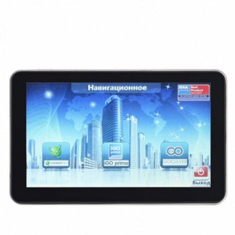 704 Win CE 6.0 7 inch Car GPS Navigation Navigator AV Europe Map Black