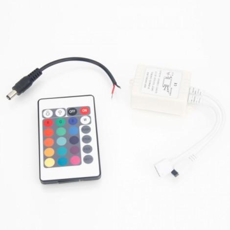 1x White Remote Controller for 5M Car LED Light Lamp Strip Stroll String Tape (DC 12V)