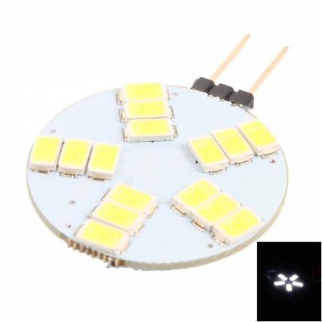 G4-15 Universal 12V 15-LED 5730 6000-8000K White Light LED Car Lamp White