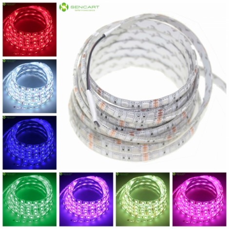 5m 72W 300-SMD5050 RGB Light Waterproof LED Strip Lamp + 12V 5A EU Standard Adapter (AC 100-240V)
