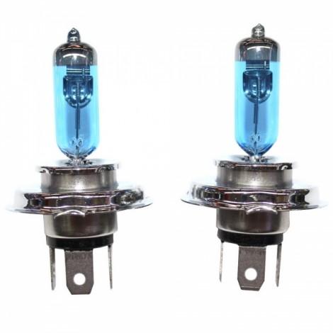 2pcs PEGASUS H4 12V 100/90W 2100LM 6000K White Automobile Headlights Blue