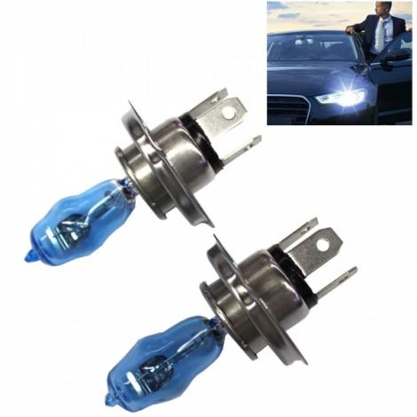 2pcs HOD H4 100/90W 2100LM 6000K White Light LED Car Halogen Headlights (12V)