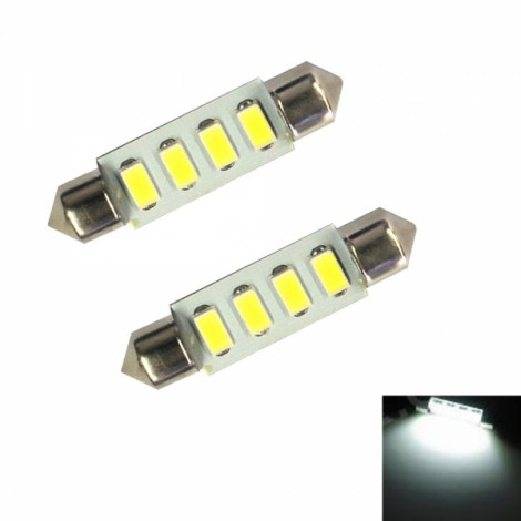 2pcs Festoon 39mm 2W 55LM 14 x 5630 SMD LED Car Reading / Door Lamps (12V)