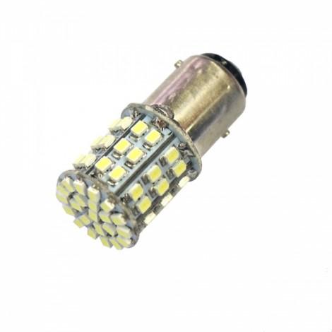 1157 18W 64 x 3528SMD LED 380LM 6000L White Light Car Brake Light (12V)