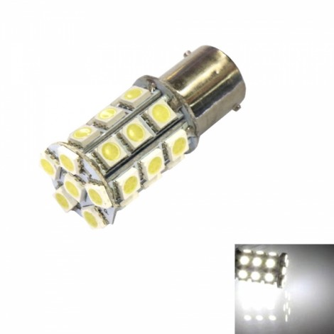 1157 13W 27 x 5050SMD LED 220LM 6000L White Light Car Brake Light (12V)