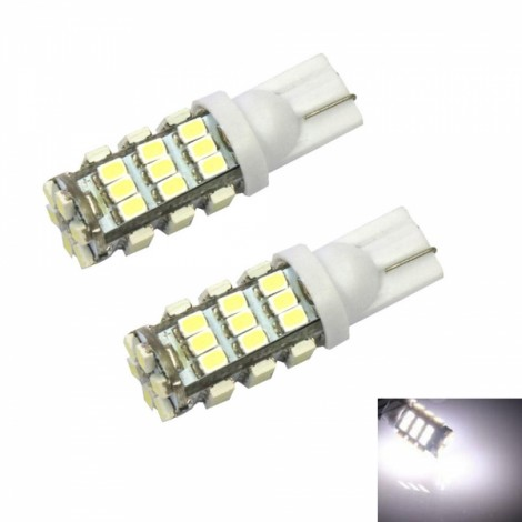2pcs T10 20W 42 x 3528LED 230LM 6000K White Light Car Turning Light Door Light License Plate Lights