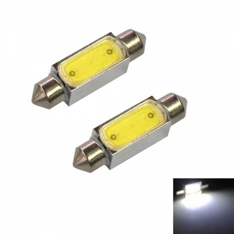 2pcs Festoon 36mm 2W 55LM COB 6000K White Light Car Reading / Door Lamps(12V)