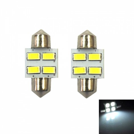 2pcs Festoon 31mm 2W 55LM 14 x 5630 SMD LED Car Reading / Door Lamps (12V)