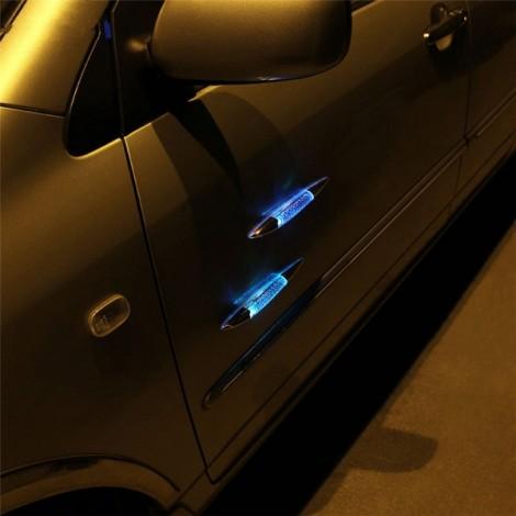 2pcs Car Decorative Shark Fin Style Solar Powered LED Warning Light Golden