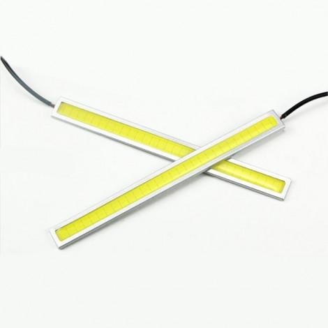 1 Pair Waterproof 76-LED COB Car LED Light DRL Fog Driving Lamp Light 17cm White Light
