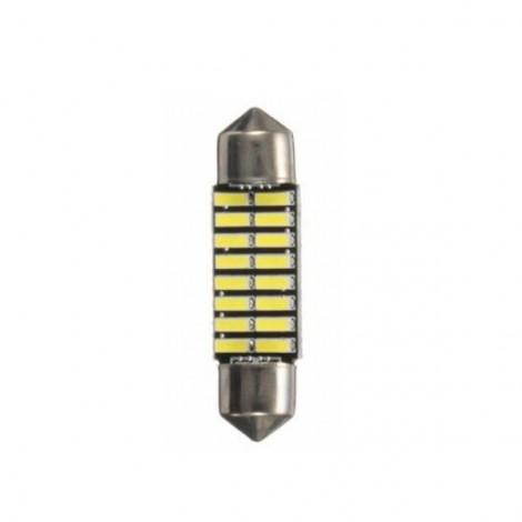 1pcs Upgrade Canbus SMD LED Car Interior Light Festoon Bulb Auto Reading Lamp T10 Trunk Lamp 36mm White Light