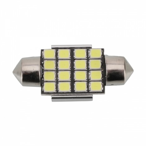 1pcs Upgrade Canbus SMD LED Car Interior Light Festoon Bulb Auto Reading Lamp T10 Trunk Lamp 31mm White Light