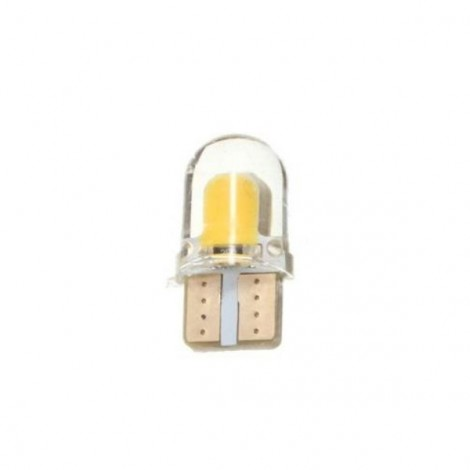 T10 W5W 8-COB SMD Silica Car LED Door License Light Bulb Yellow Light