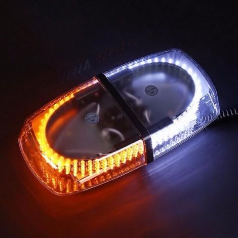 240-LED Car Roof Top Light Explosion Emergency Flashing Warning Light Strobe Light White & Yellow
