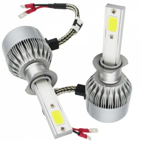 2pcs TXVSO8 110W White 6000K 9200LM COB Car LED Headlamps H1