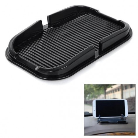 PVC Car Anti-slip Mat Pad Holder for iPhone / Samsung / Xiaomi / HTC & More Black