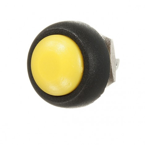 Car Auto Momentary OFF / ON Push Round Button Horn Switch Yellow