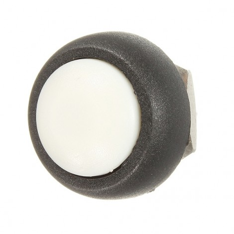 Car Auto Momentary OFF / ON Push Round Button Horn Switch White
