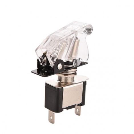 12V 20A LED Light Rocker Toggle Switch SPST ON/OFF for Car Truck White LED & Cover