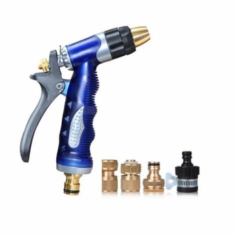 Car Washing Supplies High Pressure Spray Water Gun Blue & Golden