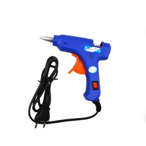 20W Professional High Temp Heater Hot Glue Gun Repair Heat Tool Blue