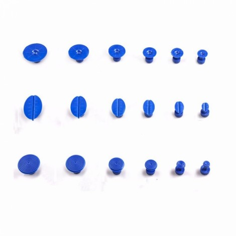 18pcs Professional Car Paintless Dent Repair Tools Auto Dent Lifter Removal Auto Body PDR Tools Kit Blue
