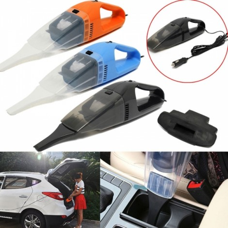 120W Large Power Car Vacuum Cleaner Portable Handheld Wet & Dry Auto Cleaning Tool DC 12V Black