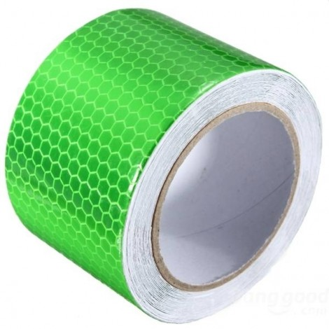 Reflective Safety Warning Tape Film Sticker for Cars Motorcycles Vehicles 3m*5cm Green
