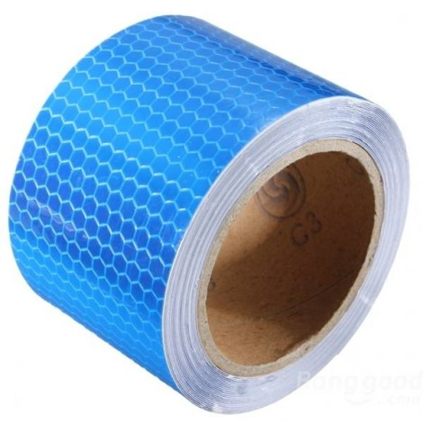 Reflective Safety Warning Tape Film Sticker for Cars Motorcycles Vehicles 3m*5cm Blue