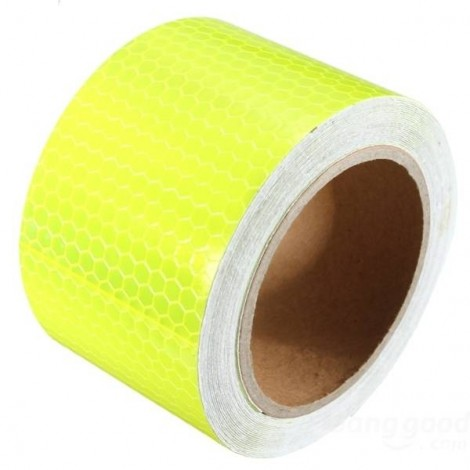 Reflective Safety Warning Tape Film Sticker for Cars Motorcycles Vehicles 3m*5cm Yellow