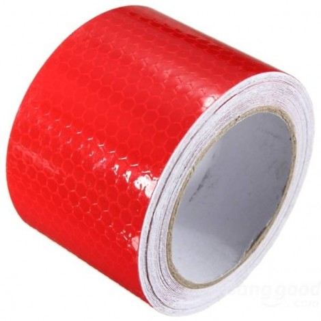 Reflective Safety Warning Tape Film Sticker for Cars Motorcycles Vehicles 3m*5cm Red
