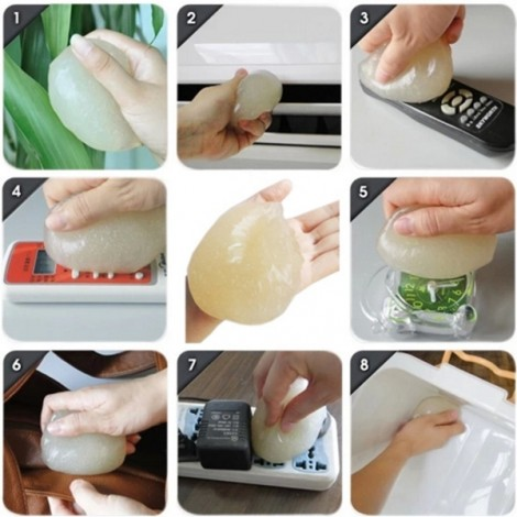 Dust Glue Cleaner Tool Clean for Car Air Vent Dashboard Conditioner Storage Box Door Handle Keyboard Random Delivery