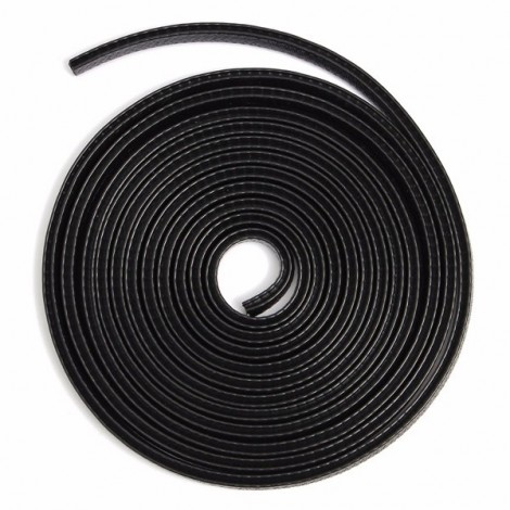 4M U Shape Edge Trim Rubber Seal Protector Guard Strip for Cars Metal Edges Boat for 1-2mm Black